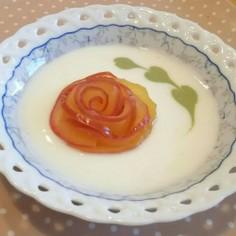 りんごの薔薇DEヨーグルトアート