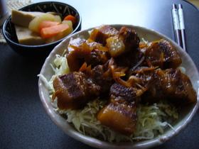 豚の角煮☆トロトロ丼