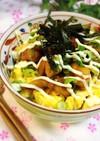 フライパンで簡単に✩焼鳥マヨたま丼♬*゜