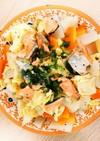 塩鮭とキャベツの蒸し焼き ごま味噌風味