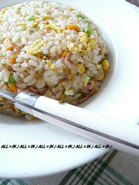 温かいご飯でもパラパラ炒飯(しょうゆ味)