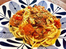 さばの水煮缶とトマトで健康☆簡単☆パスタ