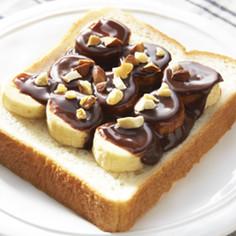 スライス生チョコレートでバナナチョコパン