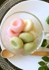 ❀雛まつり✿もちもち〜♪三色の豆腐白玉