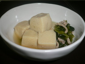 ☆簡単☆高野豆腐と鶏挽肉の煮物