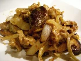 シャリ×2玉ねぎと豚肉のオイマヨ醤油炒め