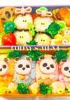 キャラ弁☆パンダのカラフルおにぎり弁当