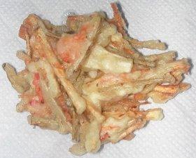 ごぼう&山芋&玉ねぎ&干し海老のかき揚げ