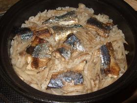 秋だ!土鍋でサンマの炊き込みご飯☆