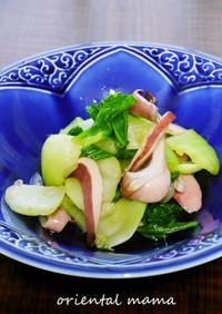 簡単!茹で青梗菜とイカゲソのポン酢和え
