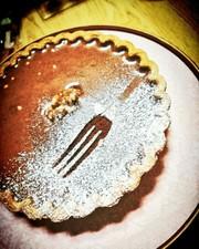 バレンタインに焼かないチョコタルトケーキの写真