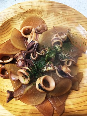 イカと大根の煮物   30分