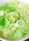 電子レンジで簡単☆ 白だし豆腐スープ♡