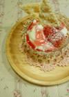 最後の一粒の苺パフェ。
