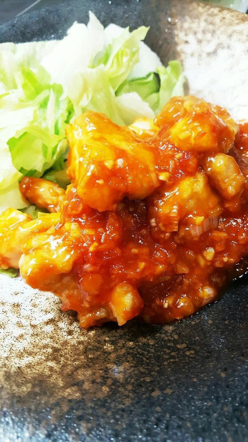 簡単★ご飯がすすむ鶏肉の甘辛チリソース