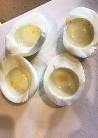ゆで卵の黄身と白身を簡単に分ける方法☆