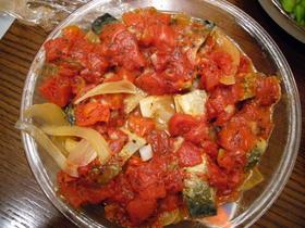 簡単鯖の~トマト煮。