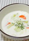 簡単コクアップ!クリームスープに粉チーズ