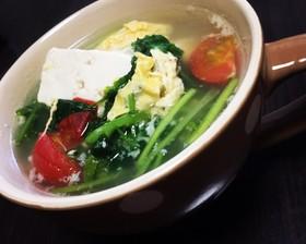 豆腐と卵のパクチー(香菜)スープ☆