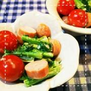 レンジだけ!大根の葉とミニトマトのサラダの写真