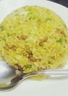 簡単☆納豆と絹さやの卵チャーハン