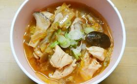 簡単❁鶏ささみと白菜きのこの白だし和風煮
