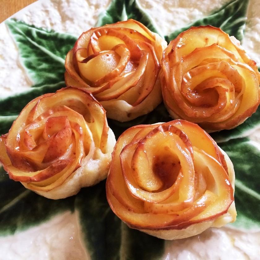 【おうちcafe】薔薇のアップルパイ