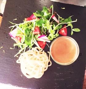 男の料理 カフェ風野菜たっぷりつけ麺