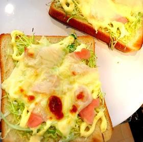キャベツで!シャキとろ〜★絶品トースト