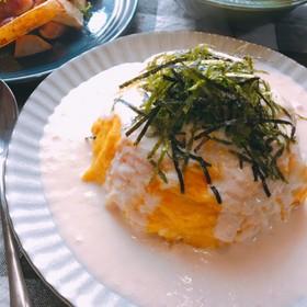炊飯器で簡単*明太子クリームオムライス
