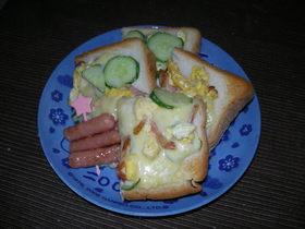 簡単♪我が家の卵トースト♪♪