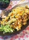 かぼちゃとマカロニと卵のデリ風ツナサラダ
