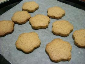 バターなしの、きなこクッキー
