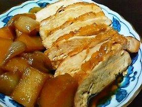 鶏むね肉のオレンジ煮