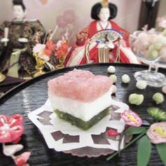 雛祭りに♡菱餅風3色寒天