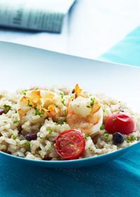 玄米&雑穀のシュリンプリゾット