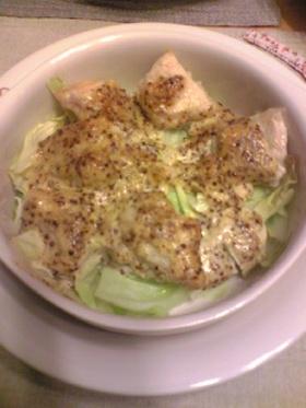 鶏肉とキャベツのマスタードマヨ焼き