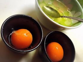 冷凍卵de黄身の醤油漬け☆