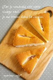 いちじくのアーモンドケーキの写真
