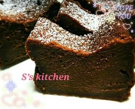 簡単で本格的☆大人な濃厚生チョコケーキ♡