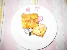 ベーコンとチーズの卵焼き