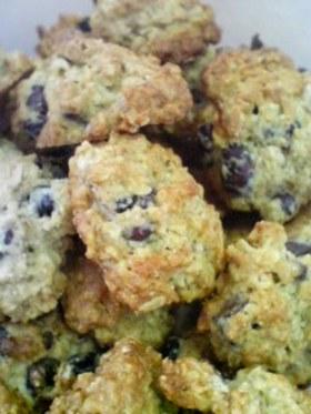 小豆とオートミールのクッキー