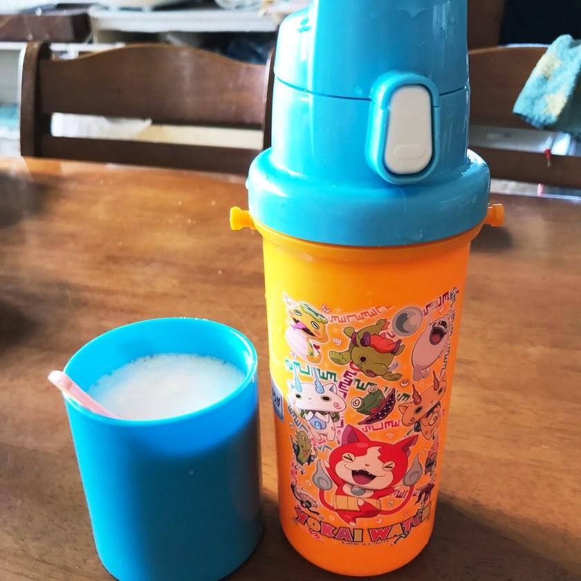 子供の水筒で簡単カプチーノ♡