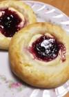 菓子パン☆クリームチーズ&ジャムパン☆