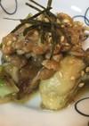 牡蠣のテリヤキ風ソテーの納豆のせ