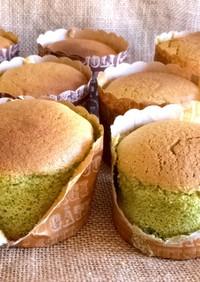 グルテンフリー米粉de抹茶カップケーキ