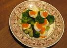 ブロッコリーと半熟卵のサラダ