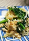 *常備菜*小松菜と蒸し鶏のからし和え