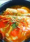家にある材料だけで トムヤムクン風スープ