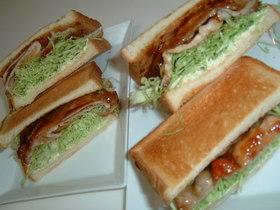豚肉のしょうが焼きサンドイッチ